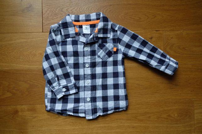 Chłopięca bawełniana koszula w kratkę Carter's 9m-cy