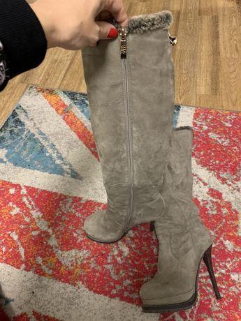 Зимние ботинки сапоги ботфорды
