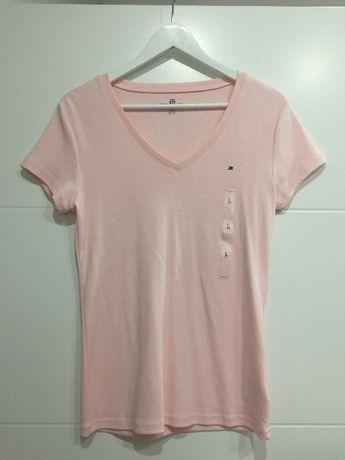 Bluzka Tommy Hilfiger jasno różowa