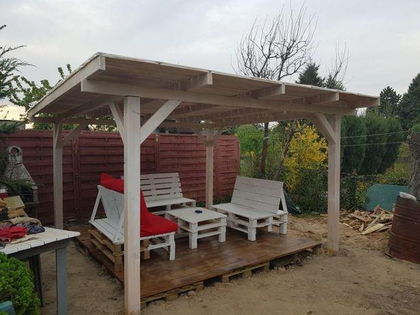 Zadaszenie tarasu, altany, wiata garażowa, garaż drewniany, szopka
