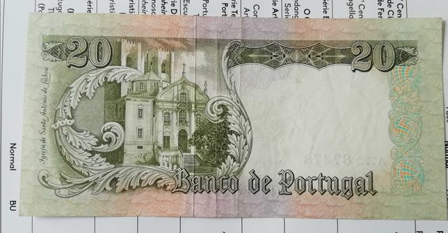 Capicua nota 20$00 Santo António