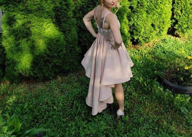 Sukienka Lou pudrowa