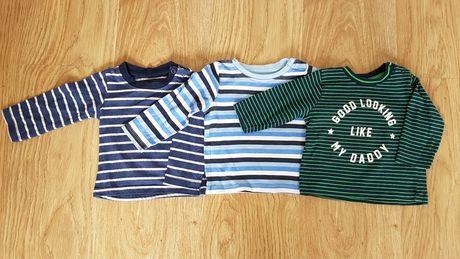 Koszulki  bluzki 3pak rozmiar 68
