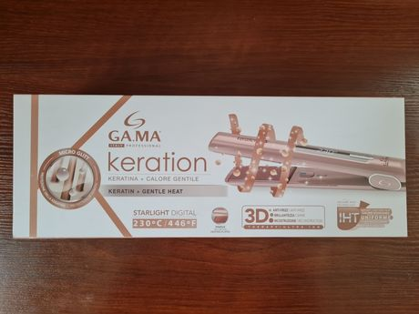 Утюжок, випрямляч для волос Ga.Ma GI0108 Keration Starlight Digital