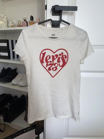 Biała koszulka tshirt krótki rekaw Levis
