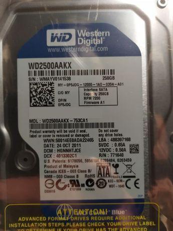 Dysk twardy WD 250GB NOWY, fabrycznie zafoliowany