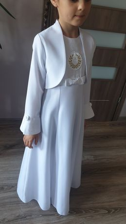 Sukienka komunijna 128  j.Nowa