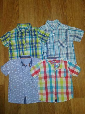 Пакет вещей рубашка шведка на мальчика 1,5-2,5 года футболки