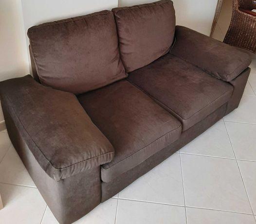 Sofa Castanho de dois lugares
