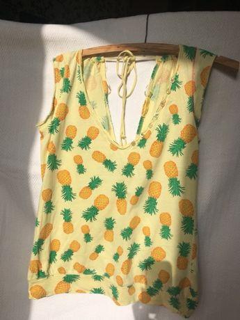 Bluzka w ananasy River Island S