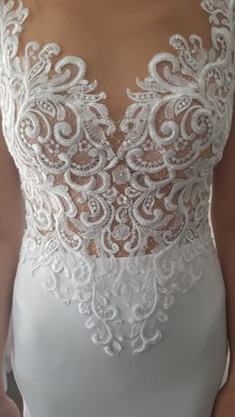 suknia ślubna biała rozmiar 36-38 + bolerko gratis !!!