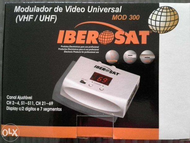 Modulador VHF/UHF (CH2-4, S1-11, CH21-69) entradas RCA + SCART - Ibero