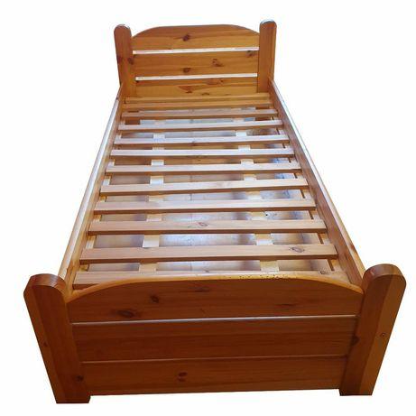 Łóżko drewniane,  sosnowe