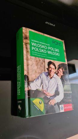 Nowy słownik włosko-polski ,polsko-włoski wyd.PONS  twarda oprawa