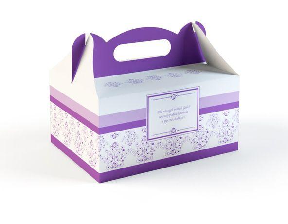 Fioletowe pudełko na ciasto