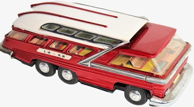 antigo brinquedo autocarro a pilhas anos 50