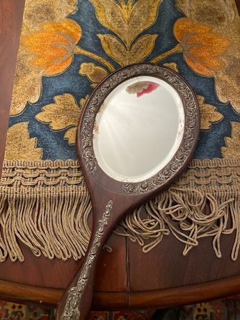 Espelho antigo de madeira
