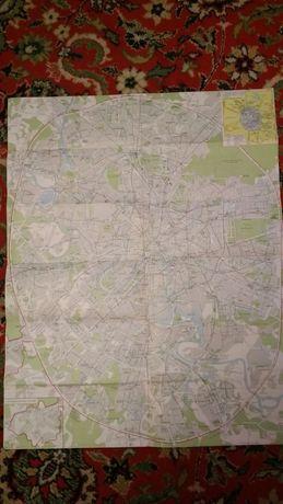 Карта - схема советской Москвы СССР