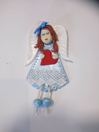 Anioł Stróż Prezent Chrzest Święty, Urodziny, Komunia, Zimna Porcelana