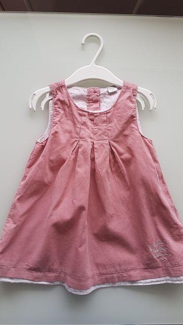 Fajna delikatna sukienka 86 cm!