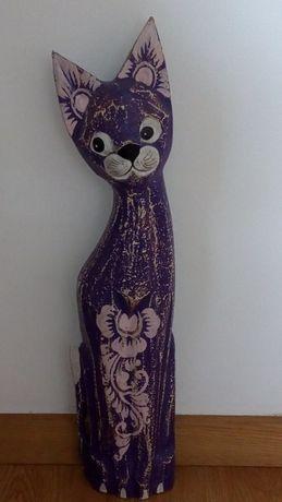 Gato em madeira decorativo