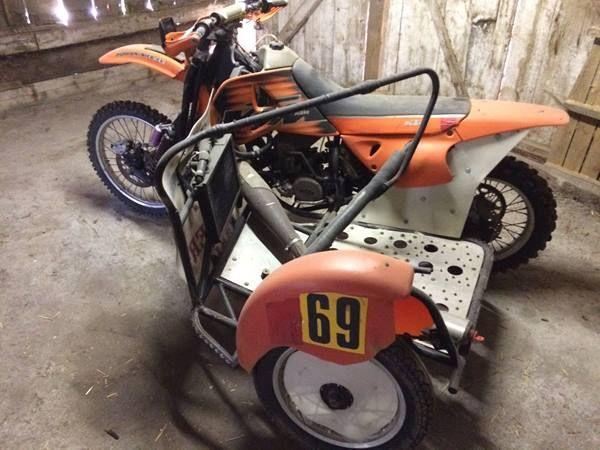 KTM MXC 550 sidecar motocross z wózkiem koszem