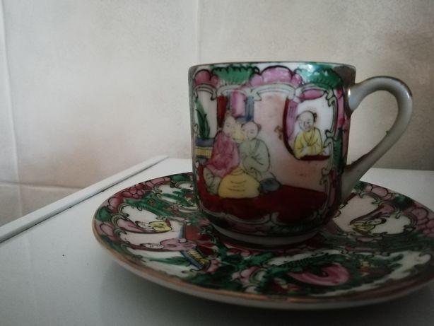 Chávena café porcelana chinesa
