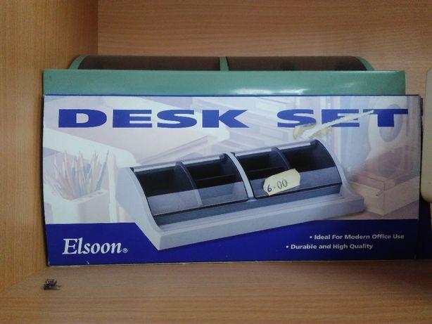 Desk set organizador de secretária clips
