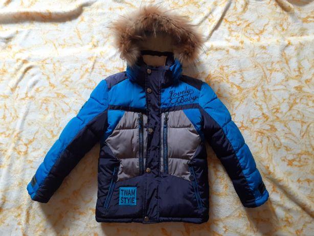 Зимняя куртка на 6-7+ лет р. 116-122
