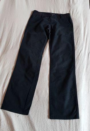Spodnie granatowe materiałowe