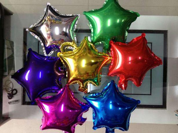 """Шарики фольгированные звездочки шары из фольги звезды кульки 13см 5"""""""