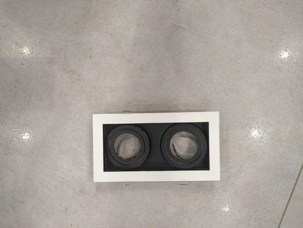 Lampa plafon sufitowy czarno bialy