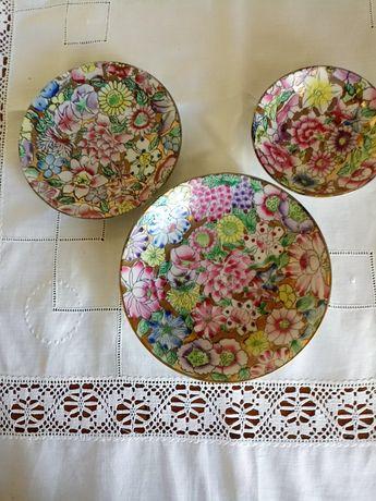 3 pratos de decoração