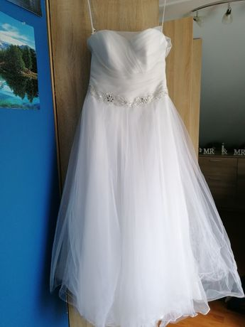 Suknia ślubna, halka z kołem, buty
