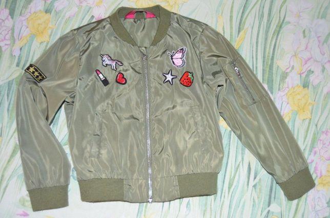 стильная куртка бомбер на 5-7 лет