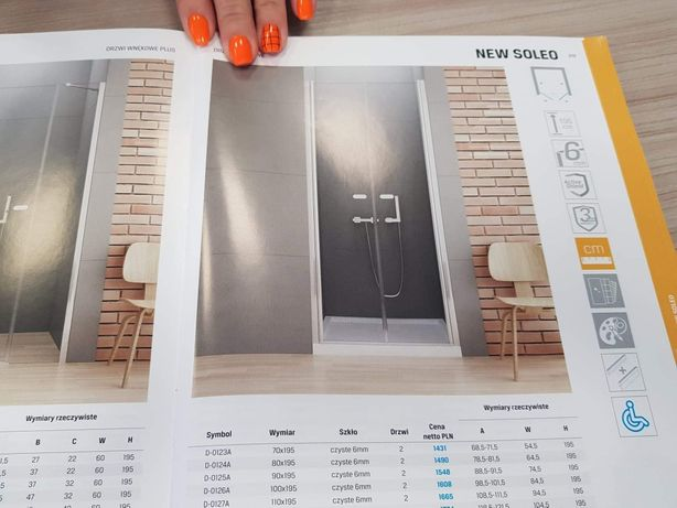 Drzwi / szyby prysznicowe