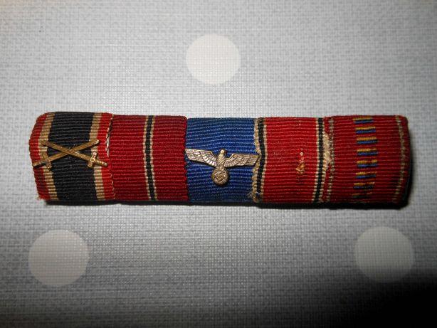 Niemiecka baretka , odznaka i medal.