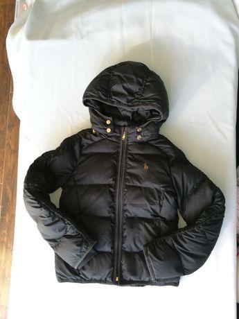 Polo Ralph Lauren czarna puchowa kurtka na zime i jesień dziewczęca