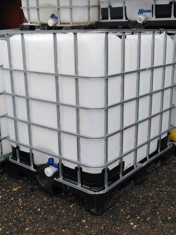 Zbiornik 1000l plastikowa paleta na wode części mauzer paletopojemnik