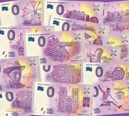 Nota Souvenir Zero 0 Euro - Portugal - Várias 2019