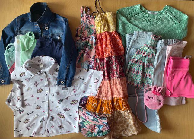 Zestaw 122 kapsuła lato kurtka sukienka spodnie bluzki torebka Zara