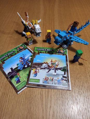 2 zestawy Klocków podróbka LEGO Minecraft z instrukcją