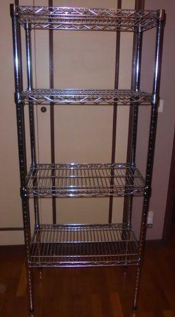 Estante metálica para cozinha, despensa ou garagem (tipo OMAR do Ikea)