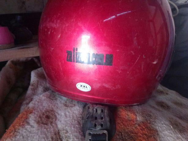 Мото шлем целый, с защитой