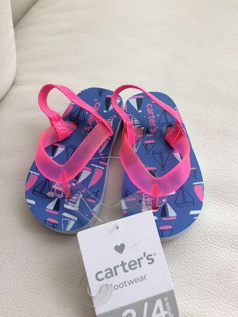 Шлепки, вьетнамки Carters flip flop размер 22