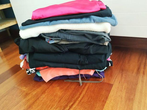Paka markowych ubrań s/m spodnie bluzki koszule spódnice bluzy ubrania