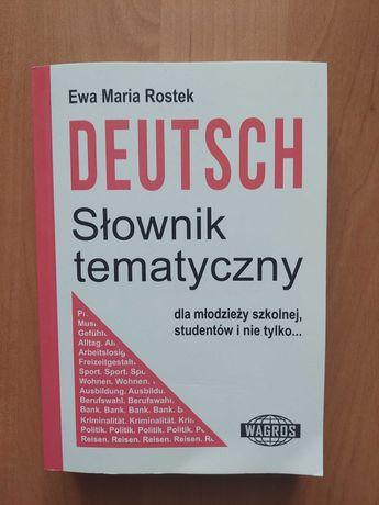 Słownik tematyczny język niemiecki Rostek
