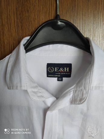 Рубашка белая темно-синяя