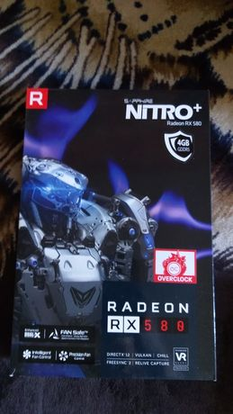 rx 580 sapphire nitro + 4 gb Коробка