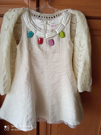 Набір- святкова сукня та кофтинка